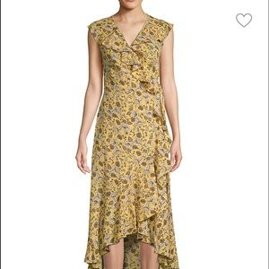 Max STUDIO floral flutter midi dress